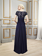 ValStefani MB7511 sleek and sophisticated trumpet gown with lace for mother of the groom designer dress with sheer back decor for east coast weddings