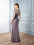Val Stefani Celebrations MB7544 gorgeous mother of the groom gown with zipper along illusion back