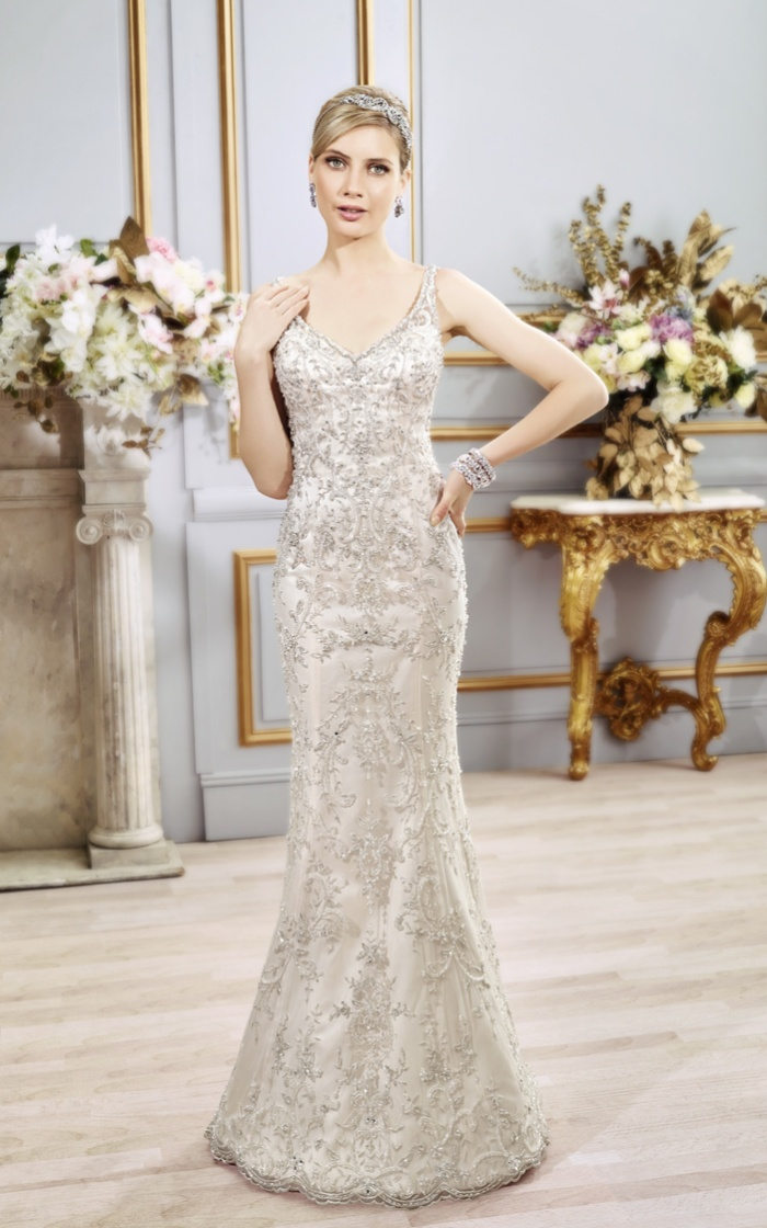 Slim Wedding Dresses With Beading And Lace Wedding Inspiration