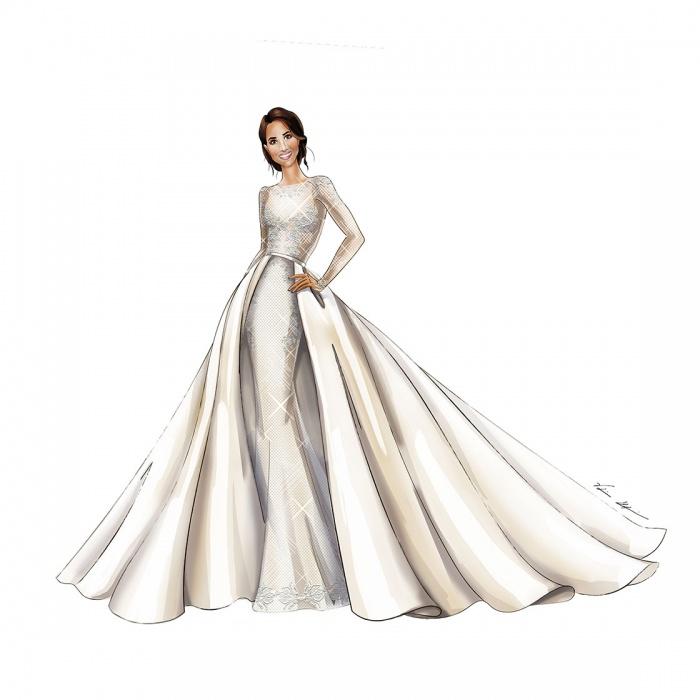 The Royal Wedding: Meghan Markle Wedding Dress Sketches