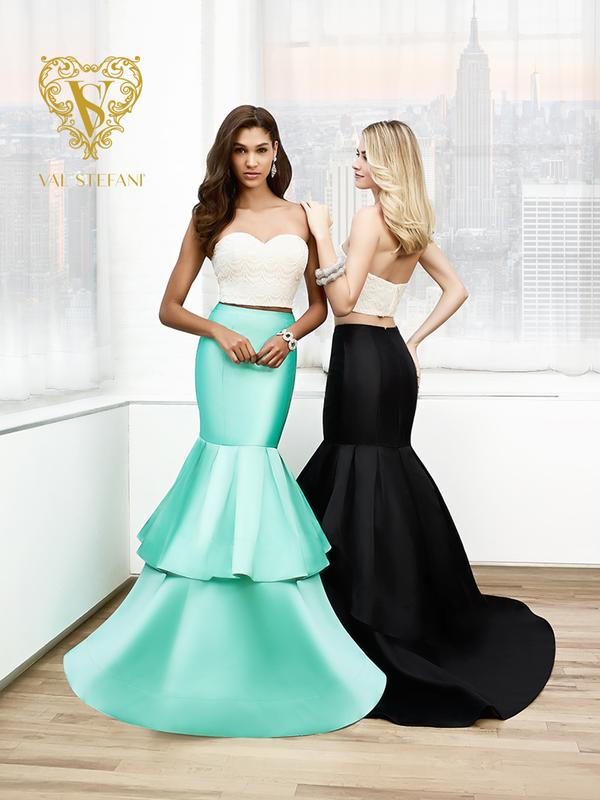 Val Stefani Prom 3013RN fashion foRWard two-piece mikdao mermaid prom gown