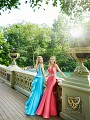 Val Stefani Prom 3054RX polished mikado mermaid pageant gown with cascading ruffle train