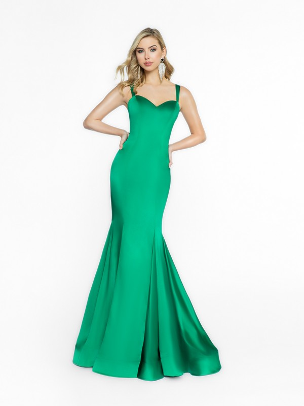 ValStefani 3705RI fancy green prom dress with sweetheart neckline
