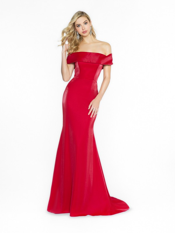 ValStefani 3718RA chic and cute off the shoulder wine prom dress