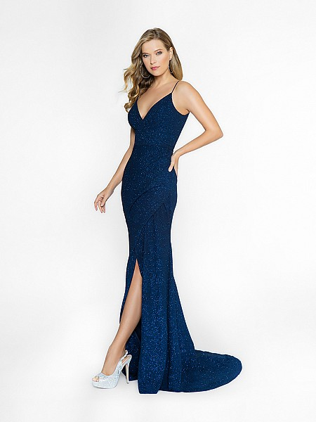 ValStefani 3745RE navy sheath with wrap skirt dress available in plus sizes
