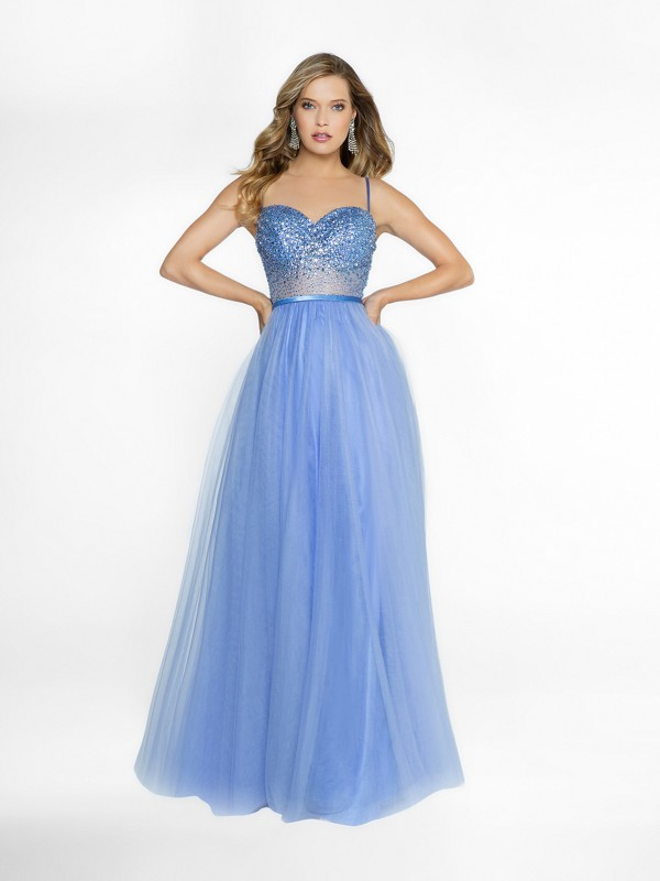 ValStefani 3759RB unlined sky blue formal gown with sweetheart neckline and rhinestones