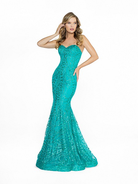 ValStefani 3763RB greed mermaid prom dress with sweetheart neckline