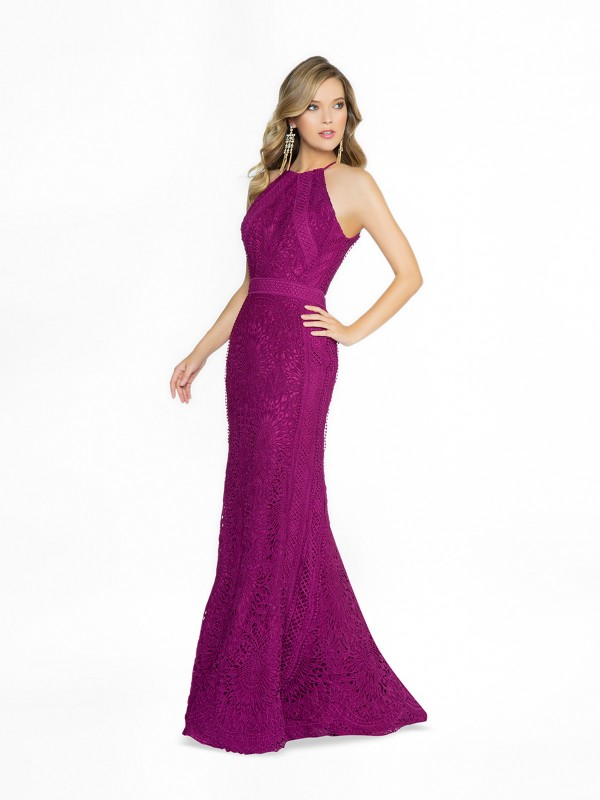 ValStefani 3773RD sexy purple and purple dress with halter neck neckline