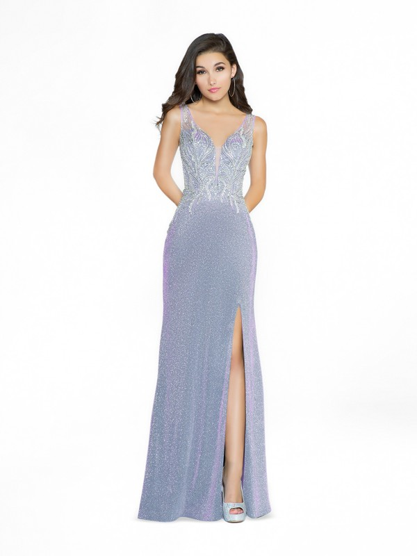 ValStefani 3778RB sequined lavender mermaid prom dress available in plus sizes