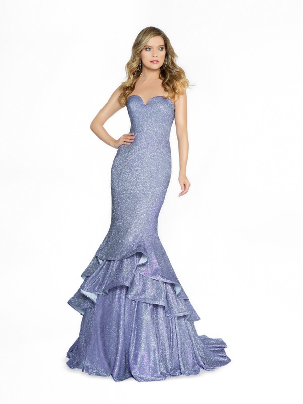 ValStefani 3781RB lavender mermaid prom dress with sweetheart neckline