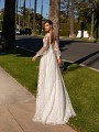 Flirty Boho Lace A-line Bridal Gown with Short Sweep Train Simply Val Stefani Alora S2161