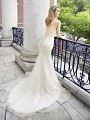 Val Stefani CALLA sexy deep beaded v-back bridal gown with airy net train