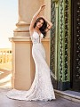 Val Stefani D8171A Santorini sexy beaded fringe mermaid wedding dress for the ultimate bohemian bride
