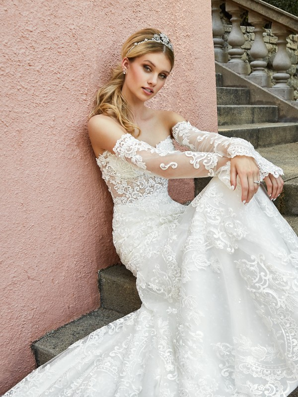 ValStefani CAPRI strapless sweetheart lace and beaded bridal gown