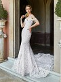 ValStefani AMALFI fit and flare wedding dress with beaded off-the-shoulder swag sleeves