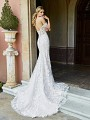 ValStefani AMALFI vintage inspired beaded lace mermaid gown with semi-catherdal train