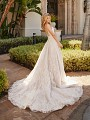 Val Stefani CARINA crystal shimmer net wedding dress with sparkly cathedral train