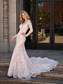 Val Stefani LYNX chantilly lace mermaid dress with long lace illusion sleeves