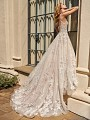ValStefani PHOENIX shimmering tulle wedding dress and detailed beaded semi cathedral train