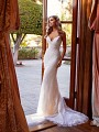 Form Fitting Chantilly Lace Mermaid Bridal Gown with Sparkle Sequins and Sweetheart Neckline Simply Val Stefani Joya S2167