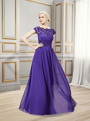 Val Stefani Celebrations MB7520 elegant formal occasion gown with corded lace appliques