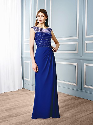 Val Stefani Celebrations MB7537 simply chic beaded mother of the bride formal gown with cap sleeves