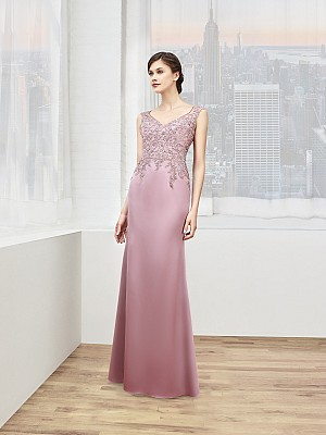 Val Stefani Celebrations MB7603 sleek embroidered sheath formal gown for mother of the groom