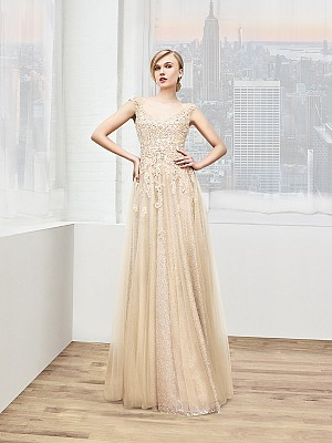 Val Stefani Celebrations MB7612 country chic sequin a-line mother of the bride gown with overlay