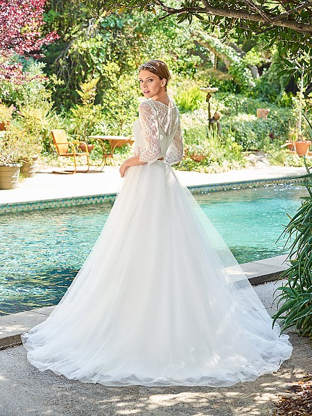 Simply Val Stefani S2062 dreamy layers of tulle A-line skirt with lightweight sweep train