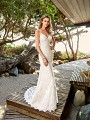 Simply Val Stefani S2087B lace rustic bohemian fit and flare wedding dress
