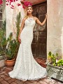 Style MEADOW all lace mermaid bridal gown with halter neck and drop waist in ivory