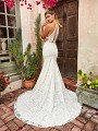 Style MEADOW sexy drop waist ivory wedding dress in timeless lace with keyhole back