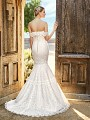 Simply Val Stefani OLYMPUS soft and sweet drop waisted mermaid wedding dress with buttons along zipper and sweep train