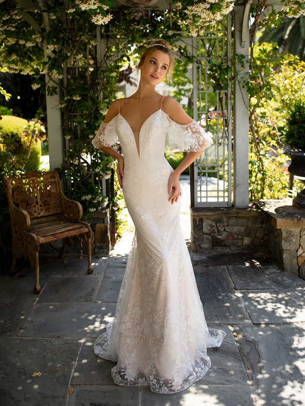 Style ANNETTA floral sparkle tulle mermaid wedding dress