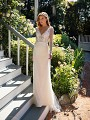 Style CORDELIA sequin lace mermaid bridal dress with long lace sleeves
