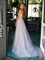 Style LEONIS strapless tulle wedding dress with sweep train