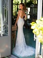 Style SICILIA lace mermaid wedding dress with hem lace sweep train